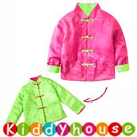 嬰幼兒bb賀年衫~賀新年服飾拜年裝 夾棉雙面小棉襖 BB1580 現貨
