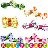 【清貨特價】bb女童髮飾~布藝小童嬰兒頭夾(對)Toddler Ribbon Hair Clip H114 現貨