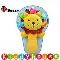 bb嬰兒玩具禮物/禮物精選~Sozzy玩具可愛動物嬰兒益智(小獅子)手搖鈴棒玩具T182禮物首選 現貨