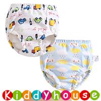 bb嬰兒用品~特大碼嬰幼兒四層純棉紗布質地防水學習/(介)戒片/隔尿褲(2條裝) BB1587 現貨