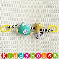 【限時特價】BB嬰兒車玩具~跳皮青蛙+鱷魚先生車床掛/吊飾 T452 現貨