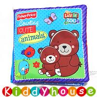 bb嬰兒玩具~可愛小熊響紙益智英文布圖書 T275 現貨