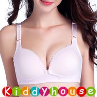 孕婦裝HK~無鋼托定型杯防下垂前開式哺乳文胸/胸圍(粉紅) MU059 現貨