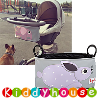 bb嬰兒用品~BB手推車/士的車收納袋(兔子) OT141 現貨