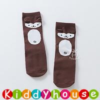 bb嬰兒用品~可愛動物中筒嬰兒小童防滑襪(啡) S355 現貨