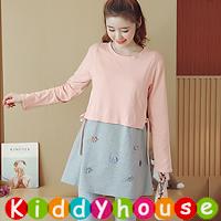online香港孕婦時裝服飾專門店hk~舒適哺乳裝餵奶衫裙 MF320 現貨