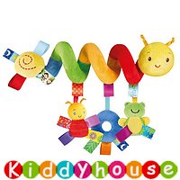 bb嬰兒車玩具/禮物精選~七彩標籤可愛蟲蟲多功能車床繞/吊掛飾 T190  現貨