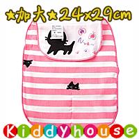 bb嬰兒用品~優質5層紗布加大號墊背吸汗巾(小貓) BB1371 現貨