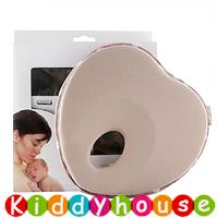 bb嬰幼兒用品~嬰兒防偏頭記憶枕頭(卡其色) OT106 現貨
