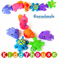 BB嬰兒玩具/禮物精選~Garanimals可愛造型幼兒戲水/洗澡玩伴(6件套裝) T300 現貨