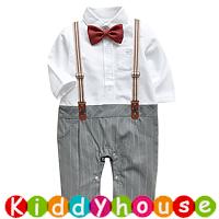 【售完】嬰幼兒bb衫~小王子假西裝夾衣+吊帶套裝 BB1448 現貨