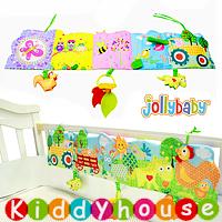 bb嬰兒玩具~JollyBaby 多功能農場動物園雙面色彩BB床圍/布書 T357 現貨