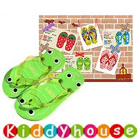 【限時特價】兒童用品~可愛童裝兒童沙灘拖鞋(青蔥蛙蛙) S0112 現貨