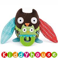bb嬰兒玩具/禮物精選~Skip Hop可愛貓頭鷹牙膠抱抱玩具/床掛/車掛 T248  現貨