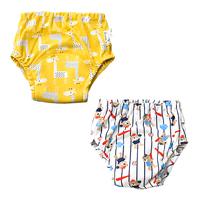 bb嬰兒用品~嬰幼兒六層純竹節棉紗布質地防水訓練戒片褲(2條裝) BU036 現貨