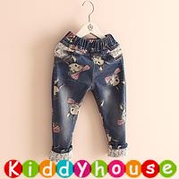 【限時特價】女童服裝~可愛兔子手繪牛仔褲 KKB015 現貨