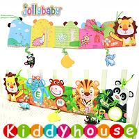 bb嬰兒玩具~JollyBaby 多功能字母動物園雙面色彩BB床圍/布書(獅子) T356 現貨