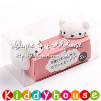 嬰兒家居安全用品~可愛動物高級矽膠安全防撞/防護角(白貓2枚組) OT053  現貨