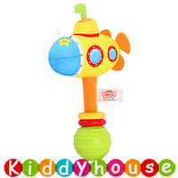 【售完】bb嬰兒玩具~趣緻卡通交通工具手搖棒(潛艇) T552 現貨