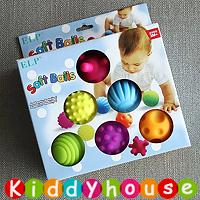 bb嬰兒玩具~Soft Balls觸感訓練按摩球6個裝 T456 現貨