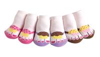 [嬰兒用品]美味杯子蛋糕造型拖鞋──女孩子(一盒三對)