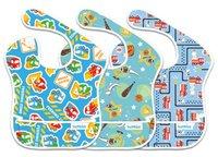 [嬰兒用品]美國Bumkins優質防水餐肩(口水肩)──Boys Trend(一包三件)