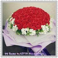 99朵香皂玫瑰花情人節求婚花束