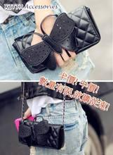 【半價】BAG1030 日系型格蝴蝶手拿/單肩包(黑色)