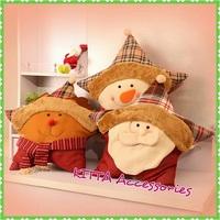 2017 可愛聖誕星形Cushion (聖誕老人,雪人,聖誕鹿)