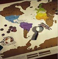 2018熱賣情人節/生日禮物 - 刮刮世界地圖Scratch Map(白底) - 記錄您的旅遊足跡