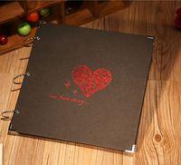 DIY情侶手工特大相簿 - 燙金Our Love Story (特大16吋大容量相簿,可放300多張3R/4R相)
