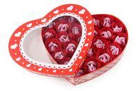 現貨 ❤ 心心禮盒雙色玫瑰香皂花(26朵) ❤ 聖誕節 女朋友 生日 情人節 母親節禮物