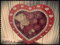 ❤ 女朋友生日/母親節禮物  ❤  I LOVE U 我愛您啤啤熊仔22朵玫瑰香皂花 (現貨)