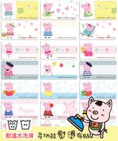 Peppa Pig ironing stickers 粉紅豬小妹姓名貼布(可熨燙式)(洗水嘜)- 3015