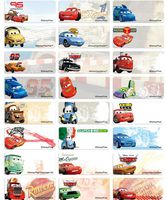 Classical CARS name stickers 經典車王姓名貼紙 -3013