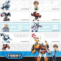 Tobot name stickers 機器戰士 姓名貼紙 - 4615