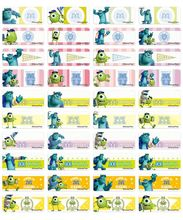 Monsters University name stickers 怪獸大學姓名貼紙 -2209
