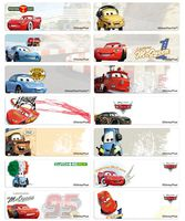Classical CARS name stickers 經典車王姓名貼紙 -4615