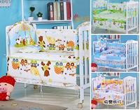 長頸鹿款 嬰兒床品 BB床圍 可拆被套 嬰兒床圍 +枕頭+床墊 共五件套 (110x65cm) (100x60cm) 104407