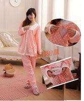 (售完)孕婦時裝 孕婦哺乳衣睡衣 懷孕期/坐月長袖家居月子套裝 018