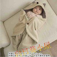 暫缺貨-春秋款 小魔怪造型抱被 新生兒抱毯/包被 推車保暖 睡袋 0236