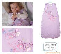 英國 the Dream Bag 紫色蝴蝶 熱銷 嬰兒睡袋2.5tog 6-18M 0214