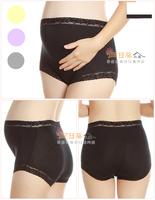 (向日葵小屋)高腰無痕無束縛大碼莫代爾花邊孕婦內褲 超舒適 四色選 103863
