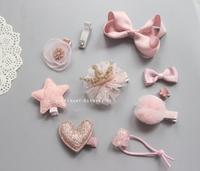 (向日葵小屋)香港孕婦及嬰幼兒專門店/歐美/出口/兒童髮夾/嬰兒髮飾/公主/全包布夾 /髮飾禮盒/十件套裝/禮物/絲帶/皇冠/可愛/派對/聯歡會閃粉105618
