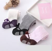 (向日葵小屋)香港孕婦及嬰幼兒專門店/嬰兒連褲襪 / 絲絨蝴蝶結褲襪 / 兒童褲襪 / 3色 104775