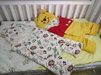 ((向日葵小屋))香港孕婦及嬰幼兒專門店/日本 pooh 造型春冬款保暖嬰兒包被+睡袋兩用 抱被 初生BB啱用 105939