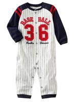((向日葵小屋)) 嬰兒春季 純棉棒球員36號 長袖夾衣 (104223)