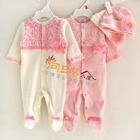 ((已售完))原單可愛公主蕾絲 嬰兒包腳夾衣+公主帽 兩件套 彌月 滿月 百日宴(最佳之選) G11