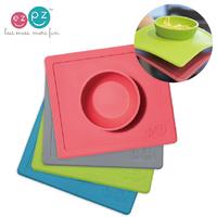 (向日葵小屋)香港孕婦及嬰幼兒專門店/美國ezpz/Happy Bowl 矽膠防滑餐碗(餐碗+餐墊的完美組合) #105558