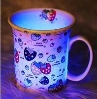 七彩發光骨瓷杯 / 草莓骨瓷杯    送禮必備